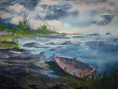 Forgotten Rowboat Original by Ellen Levinson