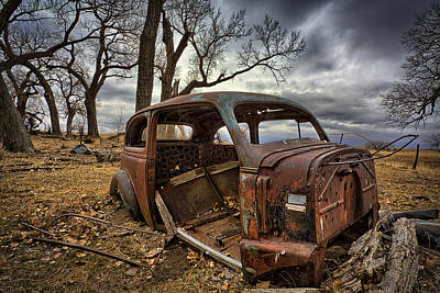 Overcast Photograph - Forgotten by Thomas Zimmerman