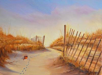Painting - Forgotten Toy In The Sand by Rich Kuhn