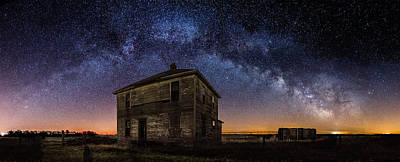 Old House Photograph - Forgotten Under The Stars  by Aaron J Groen