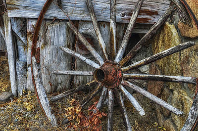 Wagon Wheels Photograph - Forgotten Wheel by Camille Lopez