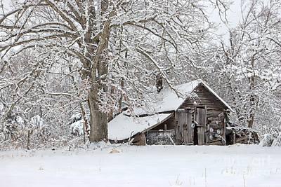 Forgotten Winter Barn Art Print by Benanne Stiens