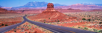 Intersection Photograph - Fork In Road, Red Rocks, Red Rock by Panoramic Images