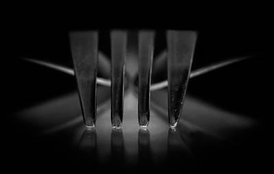 Restaurant Equipment Abstract Photograph - Fork by Kent Mathiesen