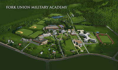 Painting - Fork Union Military Academy by Rhett and Sherry  Erb