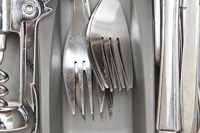 Forks Art Print by Tom Gowanlock