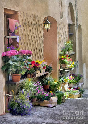 Photograph - Forli Flower Shop Impasto by Sharon Foster