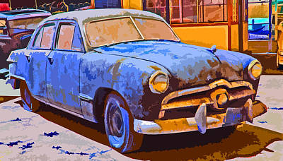 Photograph - Forlorn 1949 Ford  by Samuel Sheats