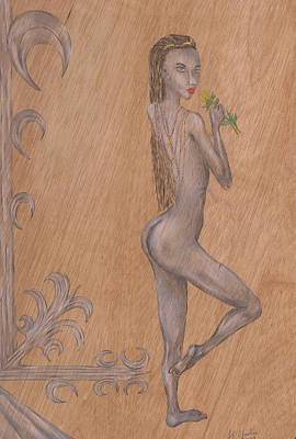 Drawing - Forlorn. by Kenneth Clarke