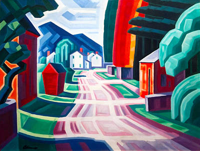 American City Scene Digital Art - Form And Light by Oscar Bluemner