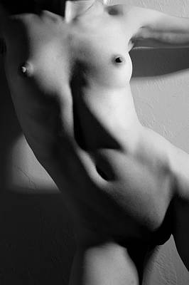 Nude Naked Female Nipple Women Breast Photograph - Form And Line by Joe Kozlowski