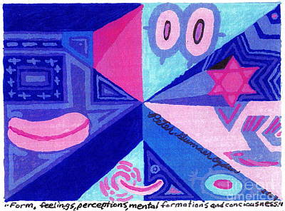 Hot Dogs Mixed Media - Form Feelings Perceptions Mental Formations And Consciousness by Peter Gumaer Ogden