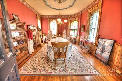 Swank Photograph - Formal Dining Room - Amelia Earhart's Birthplace  by L Wright