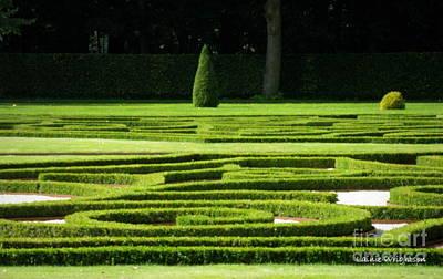 Formal Gardens Haar Castle Art Print by Lainie Wrightson