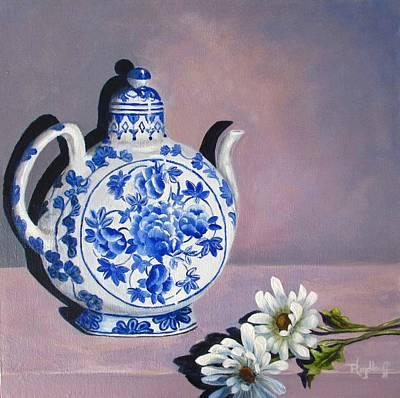 Painting - Formal Tea by Pat Heydlauff
