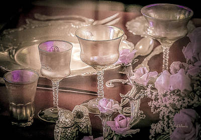 Photograph - Formal Vintage Place Setting by Julie Palencia