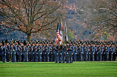Photograph - Formation Before Parent Weekend Parade by Jerry Gammon