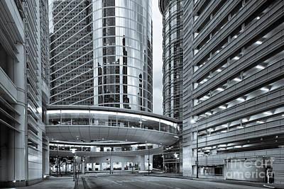 Photograph - Former Enron Skybridge Ghosts Of The Past - Houston Texas by Silvio Ligutti