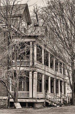 Photograph - Former Grandeur Bw by JC Findley