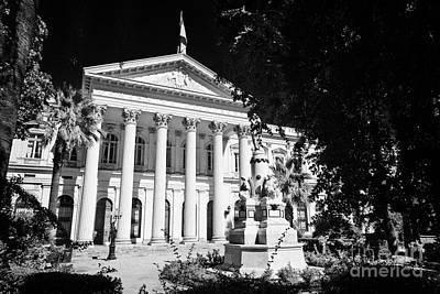 former national congress building Santiago Chile Art Print by Joe Fox