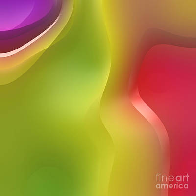 Lime Digital Art - Formes Lascives - 430c02 by Variance Collections
