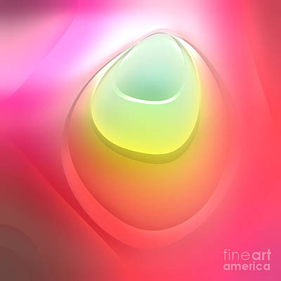 Square Abstract Digital Art - Formes Lascives - S55c03 by Variance Collections