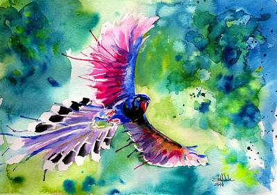 Surrealistic Painting - Formosan Magpie by Isabel Salvador