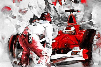 Sports Paintings - Formula 1 bis by Miki De Goodaboom