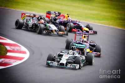 Formula 1 Grand Prix Silverstone Art Print