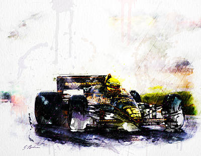 Indianapolis Digital Art - Formula 1 John Player Special by Gary Bodnar