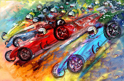 Painting - Formula 1 Madness by Miki De Goodaboom