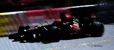 Painting - Formula 1 Race Car by George Pedro