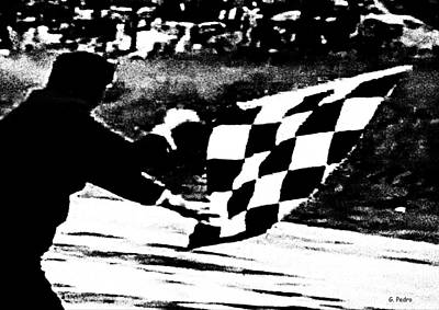 Photograph - Formula 1 Vintage Checkered Flag by George Pedro