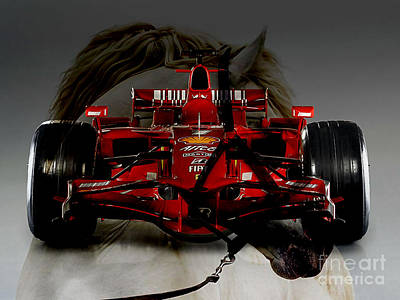 Mixed Media - Formula One Horse Power by Marvin Blaine