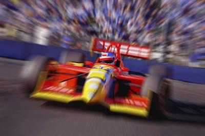 Formula Racing Car At Speed Art Print by Don Hammond