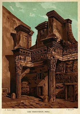 Foro Transitorum     Date 1891 Art Print by Mary Evans Picture Library