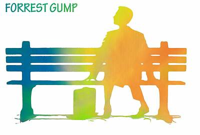 Forrest Gump Poster Art Print by Dan Sproul