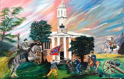 Forrest's Murfreesboro Raid Original by Esther Baxter