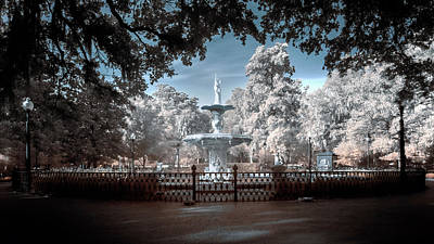 Forsyth Fountain Art Print