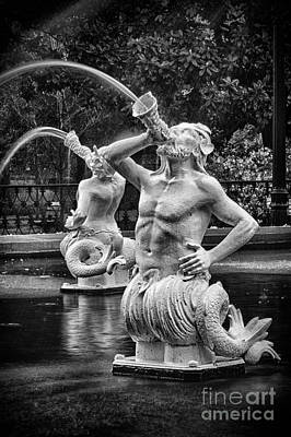 Forsyth Park Fountain 1 Art Print by Carrie Cranwill