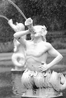 Forsyth Park Fountain - Black And White 1 2x3 Art Print