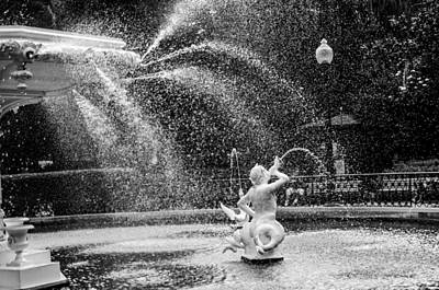 Photograph - Forsyth Park Fountain In Black And White by Anthony Doudt