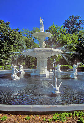 Forsyth Park Photograph - Forsyth Park Fountain In Historic by Panoramic Images
