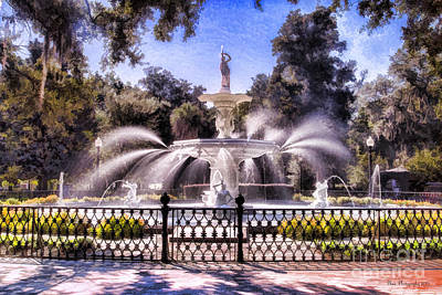 Forsyth Park Fountain Art Print