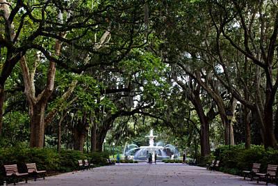 Photograph - Forsyth Park Fountain Savannah Georgia  by John McGraw