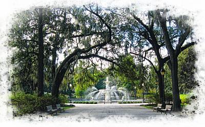 Photograph - Forsyth Park In Savannah by Joe Duket