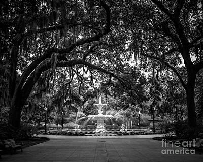 Water Fountain Digital Art - Forsyth Park by Perry Webster