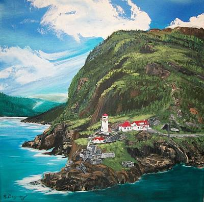 Painting - Fort Amherst Newfoundland by Sharon Duguay
