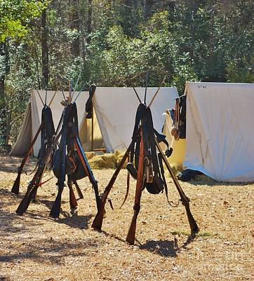 Fort Anderson Civil War Re Enactment 3 Art Print by Jocelyn Stephenson