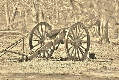 Photograph - Fort Anderson Civil War Cannon In Sepia 1 by Jocelyn Stephenson
